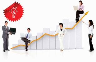 Команда людей, повышающая продажи